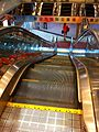 HK Mongkok 聯合廣場 Allied Plaza night mall GoldStar escalators Stainless steel Oct-2013.JPG
