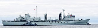 Project Resolve - Image: HMCS Protecteur with tug