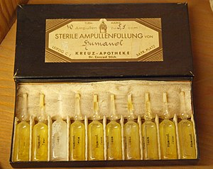 Human fat - Humanol Steril of Turm-Apotheke Leipzig, approx. early 20th century