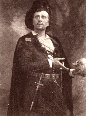 Herbert Beerbohm Tree - Tree as Hamlet in 1892.
