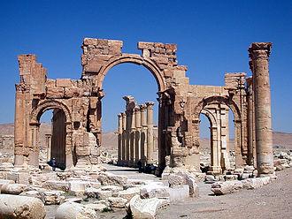 Great Colonnade at Palmyra - Image: Hadrian Gate Palmyra
