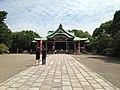 Haiden of Hokoku Shrine in Osaka Castle.JPG
