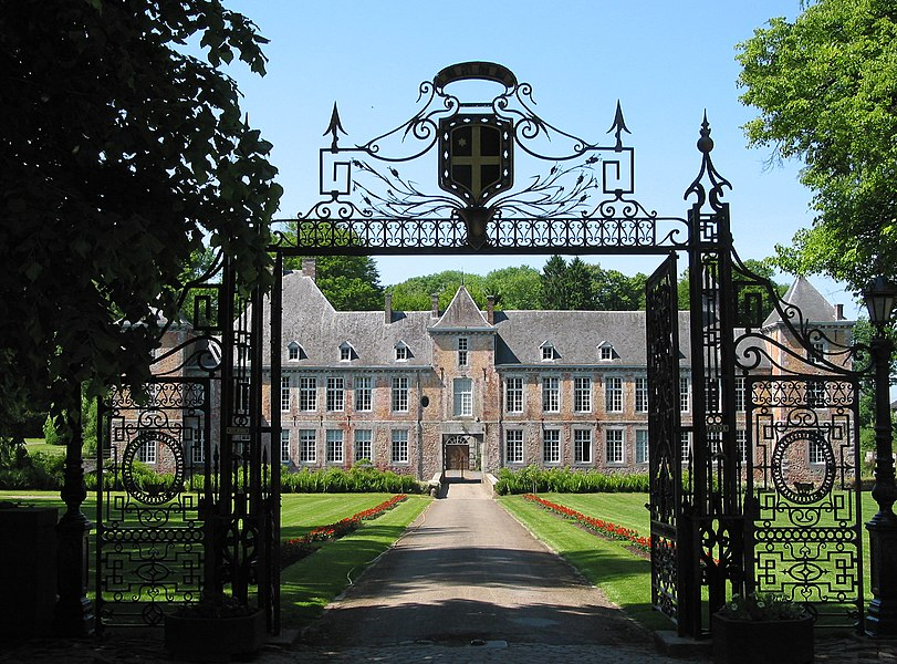 Haltinne  (Belgique), the entry of the castle (1635).