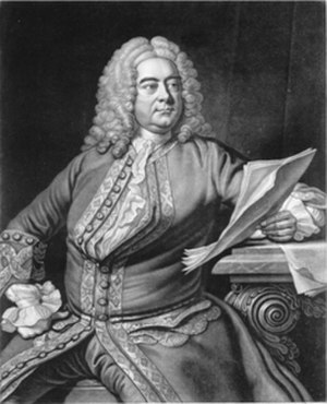 Concerti grossi, Op. 6 (Handel) - George Frideric Handel, engraving by John Faber after a painting by Thomas Hudson