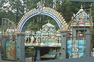 Nuwara Eliya - A temple to Hanuman near Nuwara Eliya