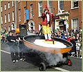 Happy Saint Patrick's Day 2010, Dublin, Ireland, Chicken Egg In Pan Float.jpg