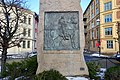 Harald Hårdådes plass bauta av Lars Utne 1905. Harald Sigurdsson Hardrada monument in Oslo, Norway 2019-02-13 c.jpg
