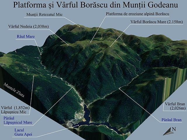 File Harta 3d Pentru Platforma Si Varful Borascu Din Muntii