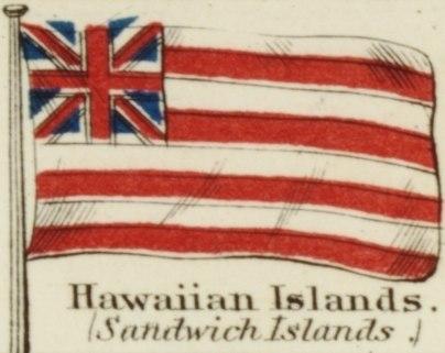 Hawaiian Islands. Johnson's new chart of national emblems, 1868