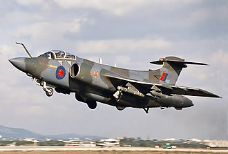 Blackburn Buccaneer - A Buccaneer taking off from Faro, Portugal