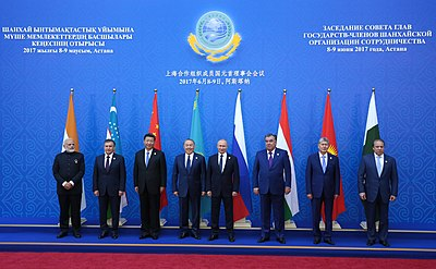 Heads of SCO member countries at the 2017 Summit in Astana.jpg