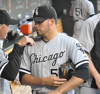 Hector Santiago - Santiago with the Chicago White Sox in 2012