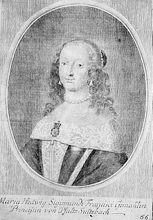 Countess Palatine of Sulzbach by birth; by marriage Archduchess of Austria and later Duchess of Saxe-Lauenburg