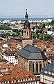 Heiliggeistkirche seen from the castle - Heidelberg - Germany 2017.jpg