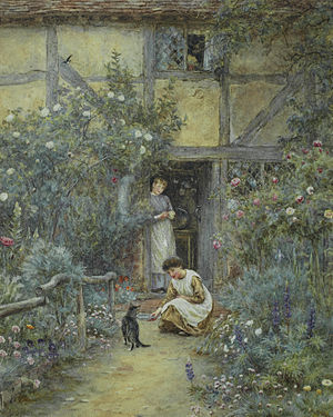 Helen Allingham - The saucer of milk