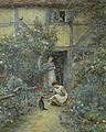 Helen Allingham The saucer of milk.jpg