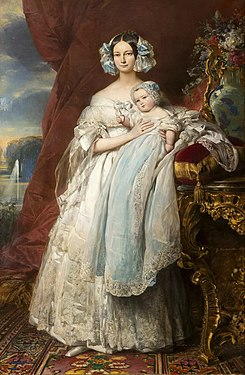 Helena of Mecklenburg-Schwerin Duchess of Orleans with her son the Count of Paris, 1839.jpg