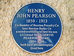 Photo of Noel Gervis Pearson and Henry John Pearson blue plaque