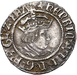 English: Half Groat of Henry VIII