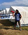Hermann Josef Hack, Aktion Climate Refugee Camp Xanten, 2012.jpg