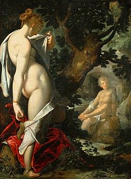Hermaphroditos and Salmacis by Bartholomäus Spranger