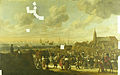 Het vertrek van Karel II, koning van Engeland, vanuit Scheveningen, 2 juni 1660. Rijksmuseum SK-A-2692.jpeg