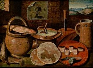 Francken - Poor man's dinner, by Hieronymus Francken (II)