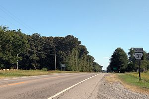 Arkansas Highway 31 - Highway 31 north of Lonoke