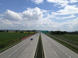 Highway D55 (Czech Republic) on 16th kilometr to the south.jpg