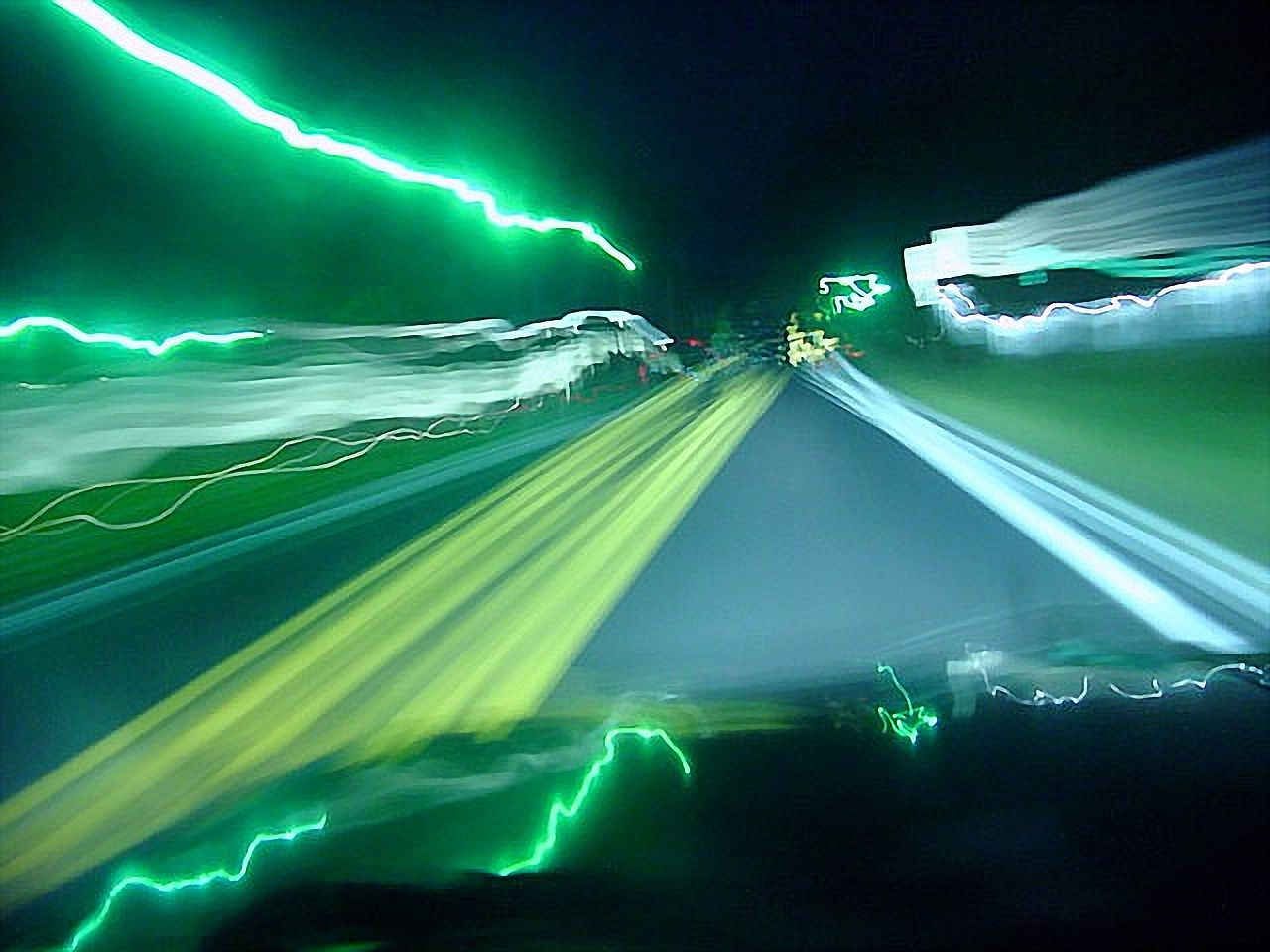 File Highway At Night Slow Shutter Speed Photography 01