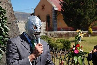 El Hijo del Santo - El Hijo del Santo in a public ceremony in Tulancingo, Hidalgo.