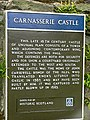 Historic Scotland notice, Carnasserie Castle - geograph.org.uk - 986458.jpg