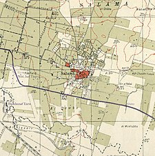 Historical map series for the area of Salama, Jaffa (1940s).jpg