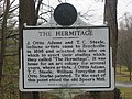 Historical marker at The Hermitage in Brookville.jpg