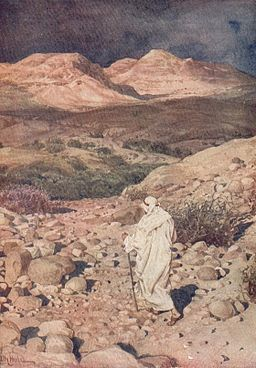 Temptation of Jesus in the Desert - William Hole