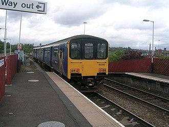 Hollinwood tram stop - Image: Hollinwood railway station 1