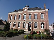 Homblières (Aisne) mairie.JPG