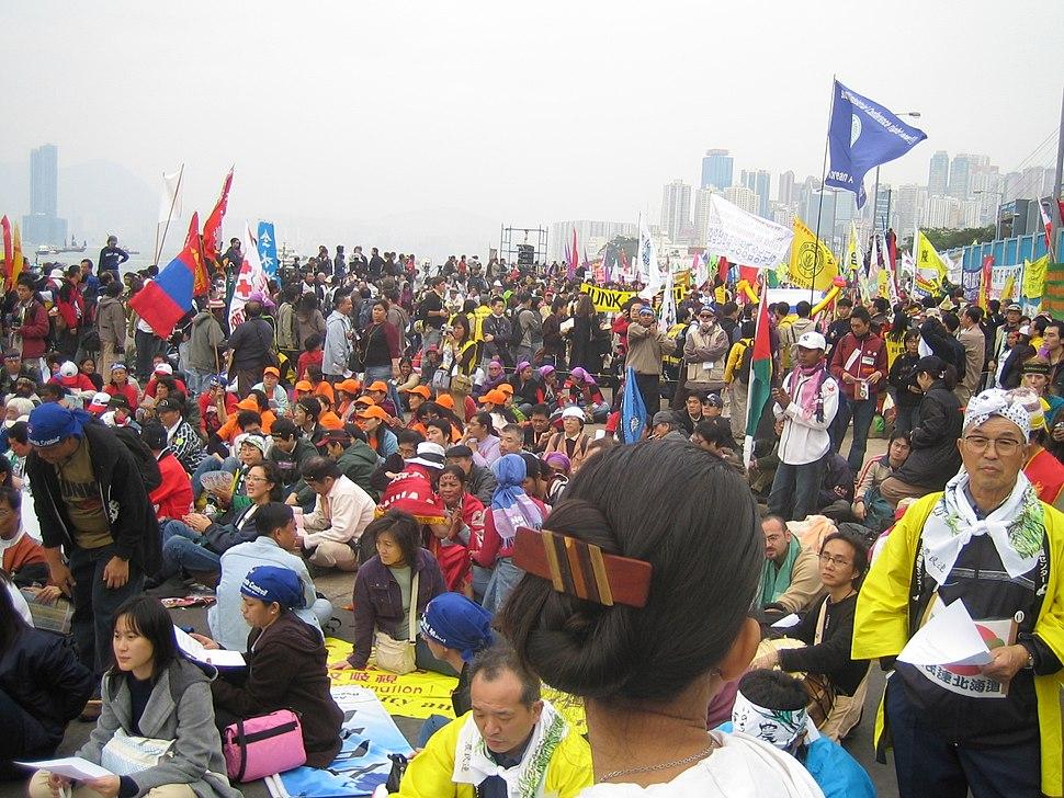 Hong Kong WTO protesters 2005