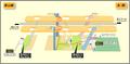 Hongo station map Nagoya subway's Higashiyama line 2014.png