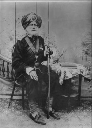 Order of British India - Honorary Captain Subedar Major, Sardar Bahadur, Sardar Lehna Singh, O.B.I. 1st Class, 45th Rattray's Sikhs
