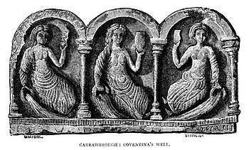 Three Celtic goddesses, as depicted at Coventi...