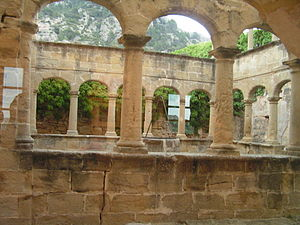 Salvador of Horta - Remains of the cloister of the Franciscan friary in Horta de Sant Joan, where St. Salvador lived for twelve years.