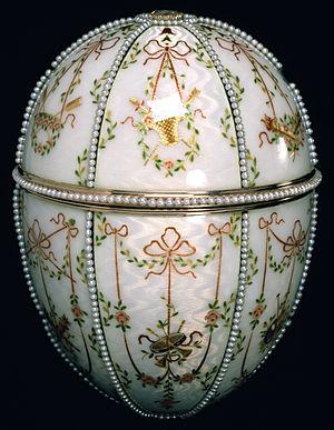 Michael Perkhin - Image: House of Fabergé Gatchina Palace Egg Walters 44500 Closed