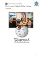How to conduct Wikipedia Editing Training (lesson plan).pdf