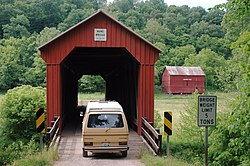 The Hune Covered Bridge, a township landmark
