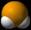 Spac-satiga modelo de la hidrogena selenidmolekulo