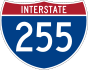 Interstate 255 marker