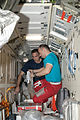 ISS-35 Alexander Misurkin and Chris Cassidy work in Rassvet.jpg