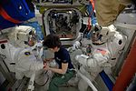 ISS-42 EVA Samantha, Terry and Butch in quest airlock.jpg