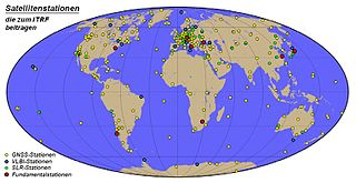 world spatial reference system co-rotating with the Earth in its diurnal motion in space